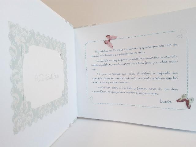 Libro de firmas para comunion niña danza