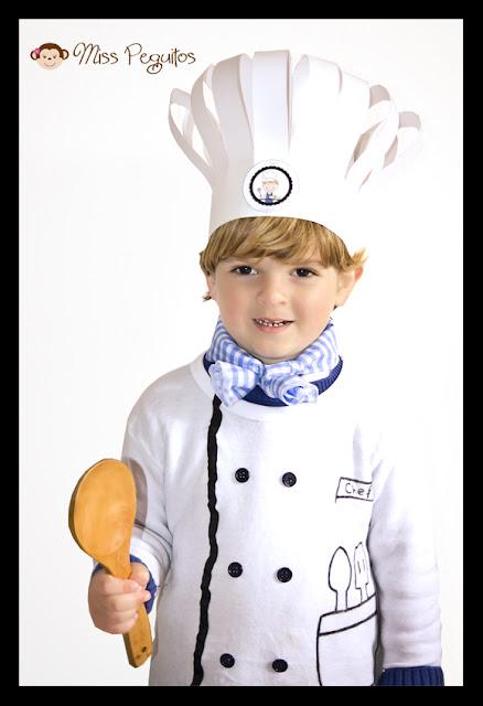 diy costume chef disfraz cocinero