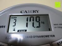 Display: Camry Digitaler Hand-Kraftmesser / Dynamometer, zum Trainieren der Hände, 90 kg / 200 lb