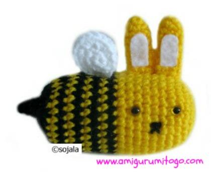 Amigurumi Kawaii Free : Moshimoshi bunny bee free crochet pattern amigurumi to go