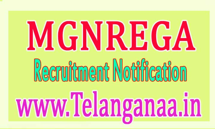 MGNREGA (Mahatma Gandhi National Rural Employment Guarantee Act) Recruitment Notification 2016