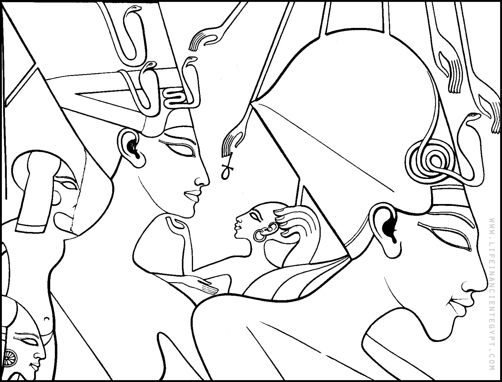 Free Printable Ancient Egypt Coloring Page Egyptian Queen