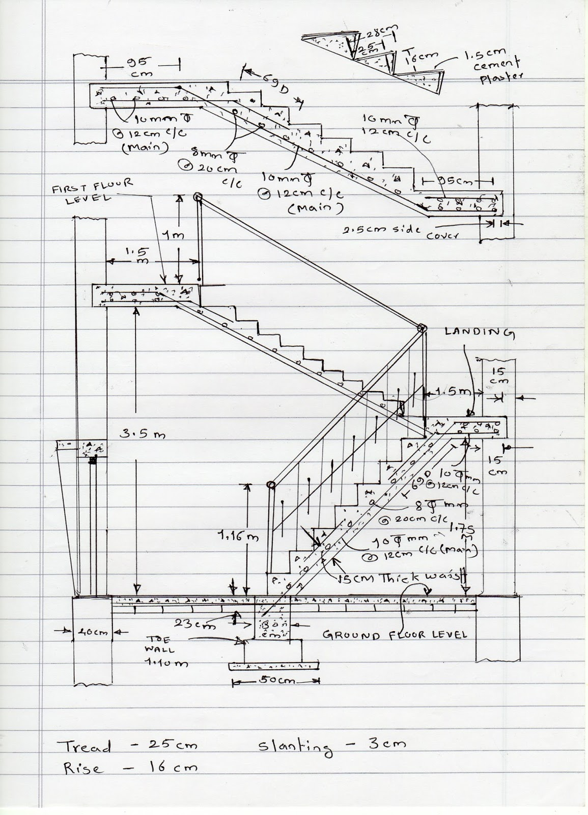 Civil At Work: How To Calculate Staircase Concrete Quantity
