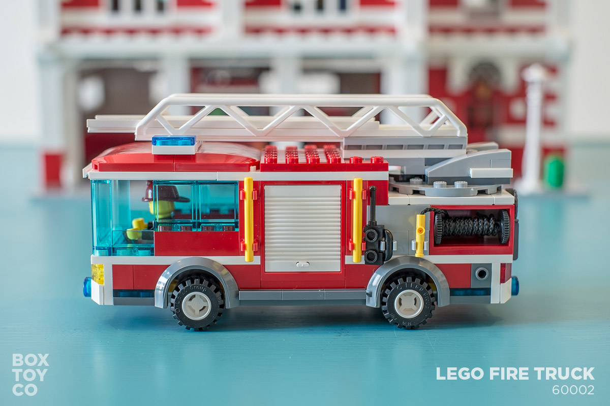 Bricktoyco Custom Classic Style Lego Fire Station Modularwith 3
