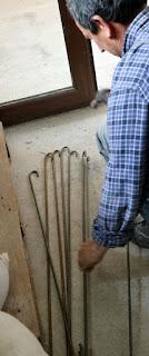 Bekir bending the rebar