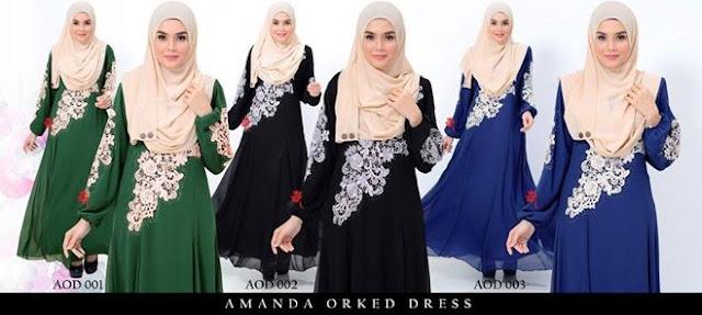 amanda orked dress untuk hari raya plus size