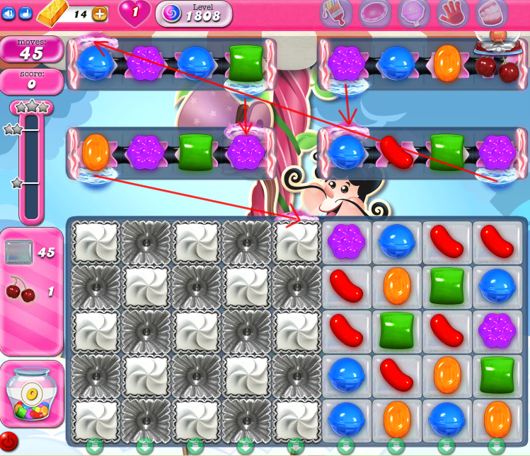 Candy Crush Saga 1808