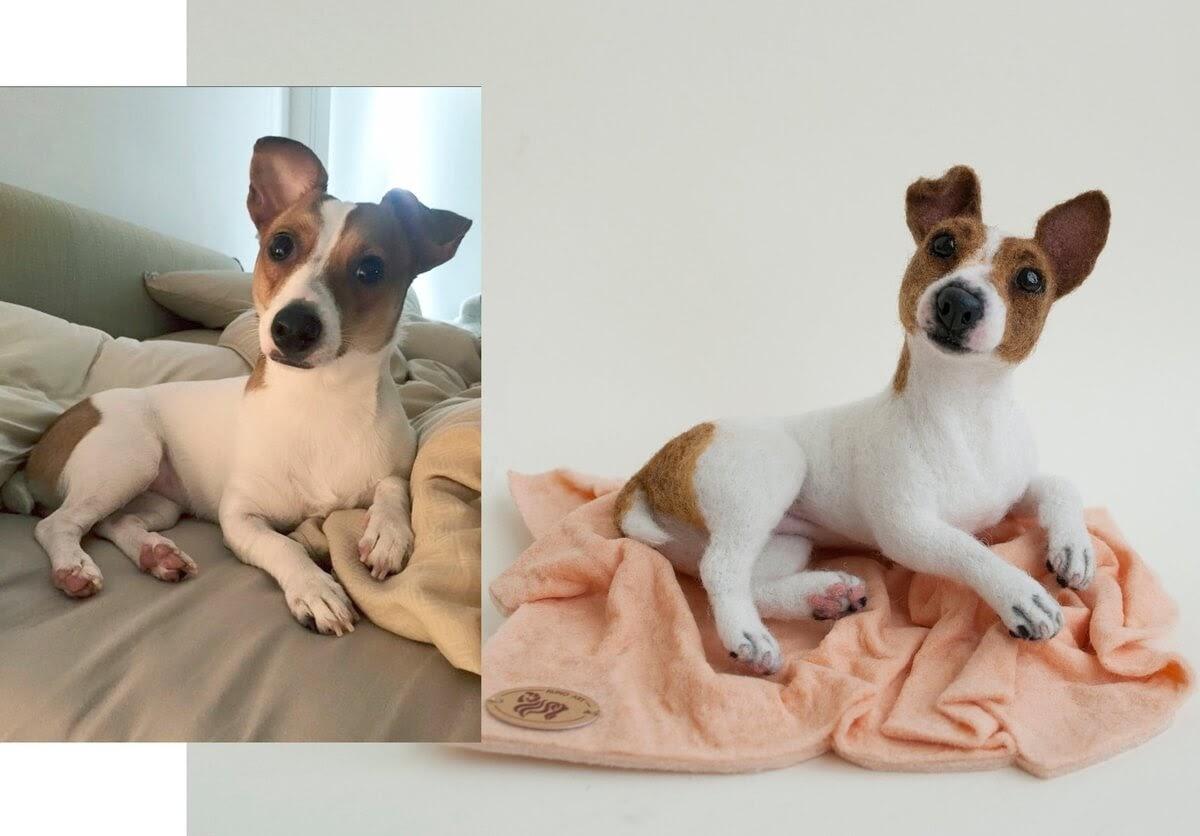 01-Jack-Russell-Terrier-Hanna-Tsukanova-3D-Dogs-&-Cats-Felt-Pet-Portraits-www-designstack-co