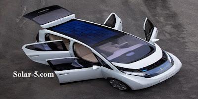 Solarauto Solarfahrzeug mit Akkulaufzeit Zukunft
