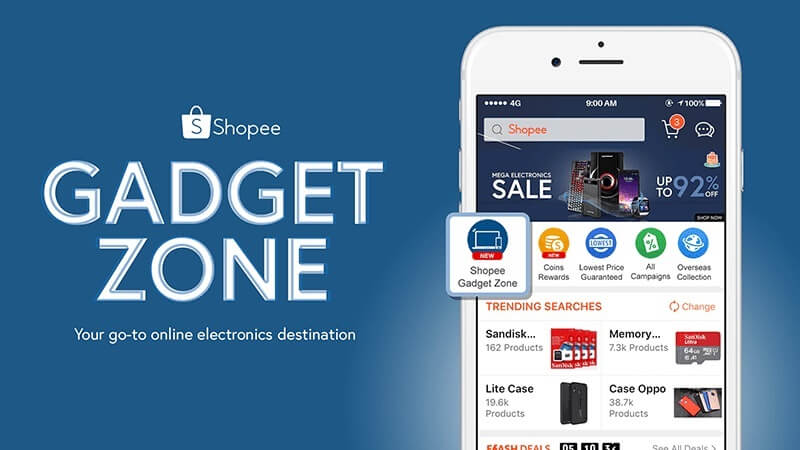 Shopee Launches Gadget Zone; Offers up to 92% Off!