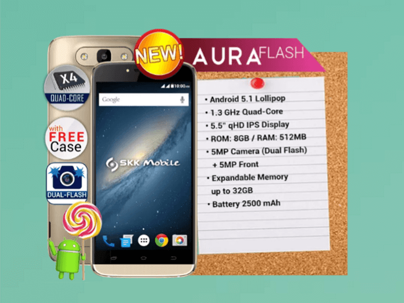 SKK Aura Flash Spotted Too, A Budget Phone With Strong Dual Flash?
