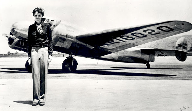 Image: melia Earhart with the Lockheed Electra, by NASA on The Commons on Flickr
