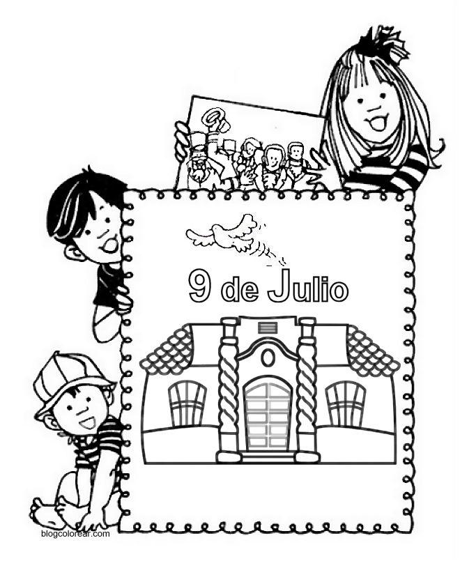 El rincon de la infancia: Dibujos para colorear Día de la independencia