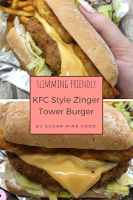 Slimming World KFC Fakeaway zinger tower burger