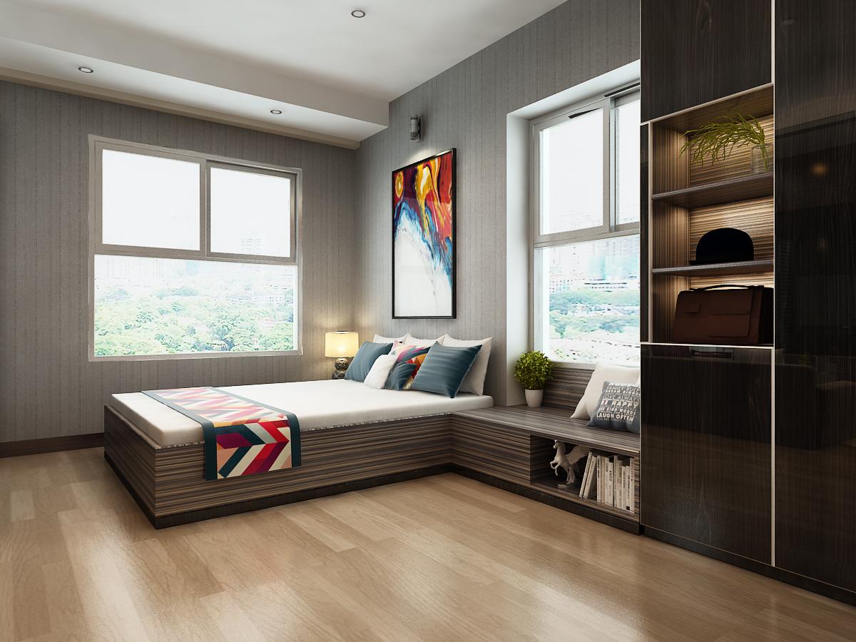 phòng ngủ căn hộ A1 - xigrandcourt
