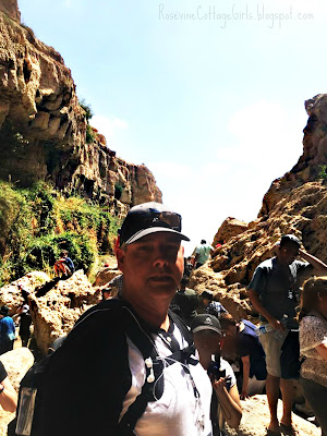 Eric Hiking at En Gedi Israel