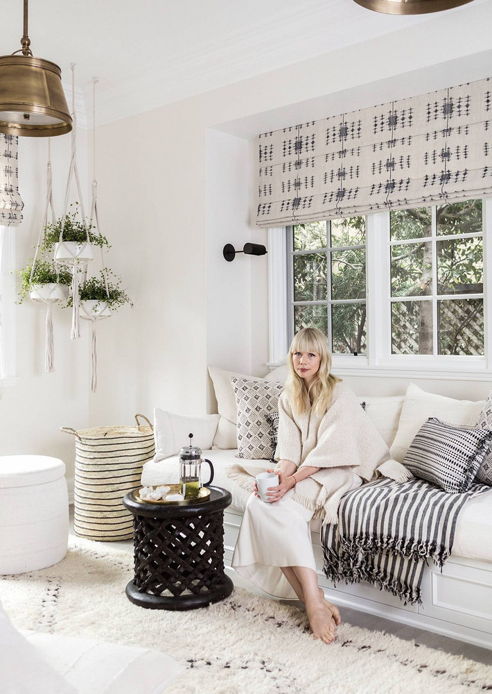 All-white interior design and California farmhouse style in Erin Fetherston's home on Hello Lovely Studio