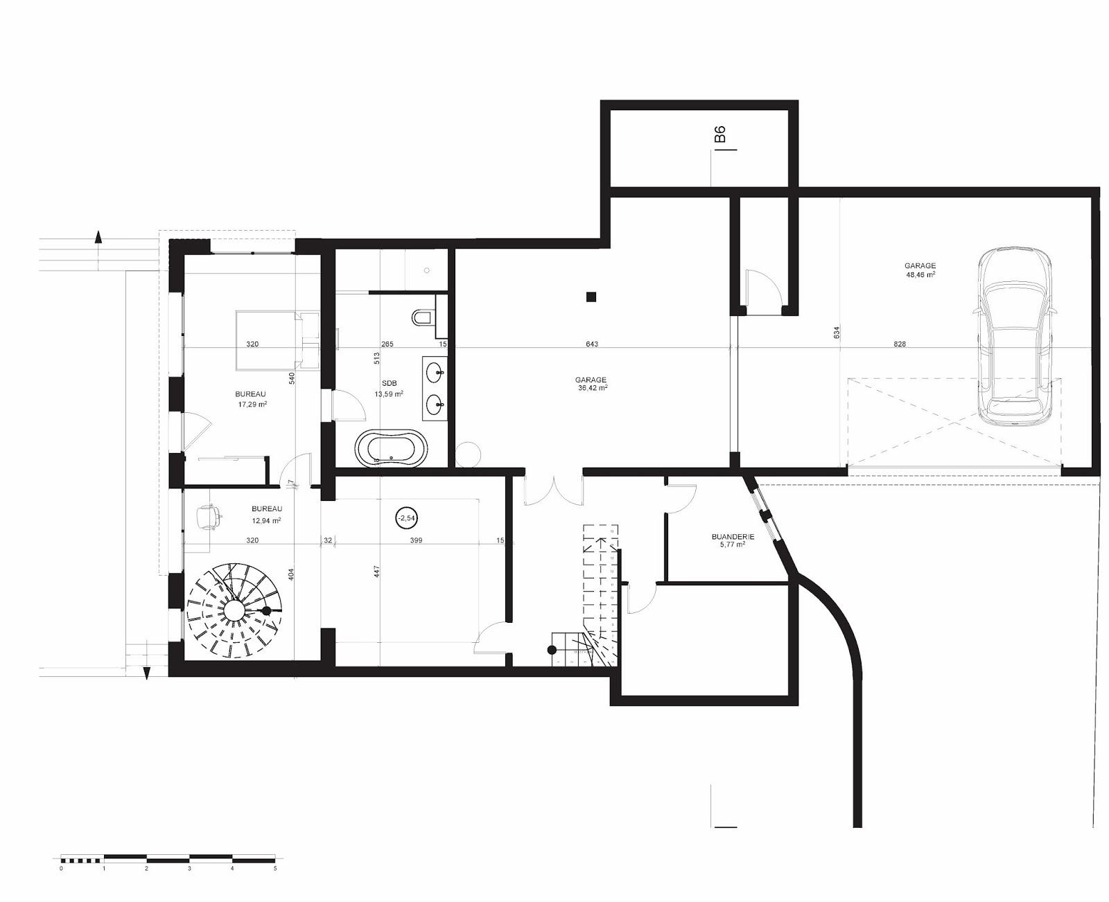 plan maison garage sous sol. Black Bedroom Furniture Sets. Home Design Ideas
