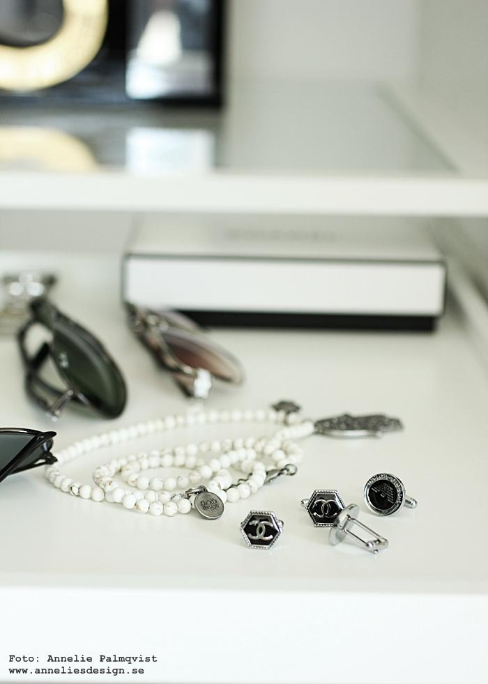 walk in closet, manschett, manschettknappar, chanel, wic, inredning, blogg,