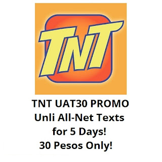 TNT UAT30 : Unli All-Net Texts for 5 Days, 30 Pesos Only!