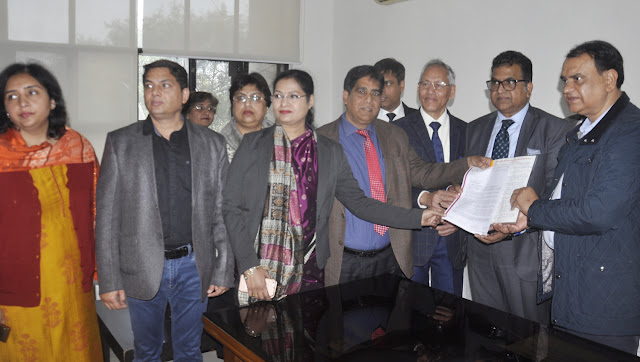 Private School Association has submitted memorandum for protection against the murder of the Yamunanagar Principal