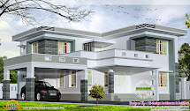 2875 Square Feet Flat Roof Home - Kerala Design And