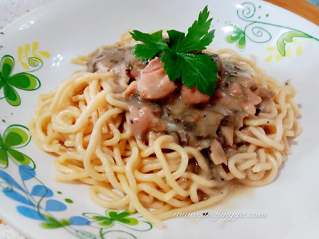 resepi spaghetti carbonara bolognese copd blog Resepi Spaghetti Aglio Olio Azie Kitchen Enak dan Mudah