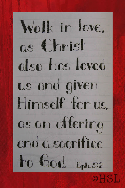 Ephesians 5:2, Scripture Writing