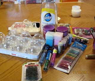 #NUO2012 Supplies for Glitter filled Glass Ornament @lisastuf @mvemother