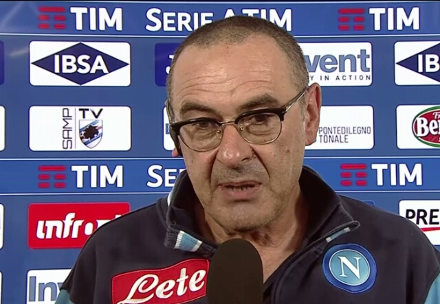 """Sarri:""""abbiamo perso un campionato in albergo, Juve non se più forte, ma la più potente"""""""