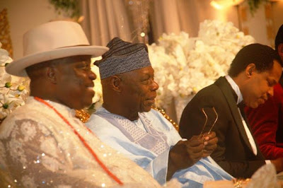 590085 pastor chris3 jpg7438cee94318d004c2ba8a1ec82d2916 Obasanjo was spotted at pastor Chris Oyakhilomes birthday celebration
