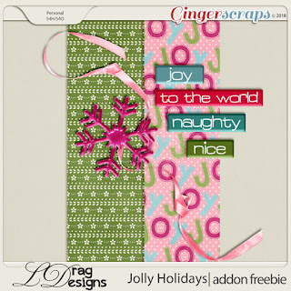 Creative Team for LDrag Designs -    Jolly Holidays: The Collection and Coordinating Freebie - Buffet Goodies for December (Save 50%) and Buffet Challenge
