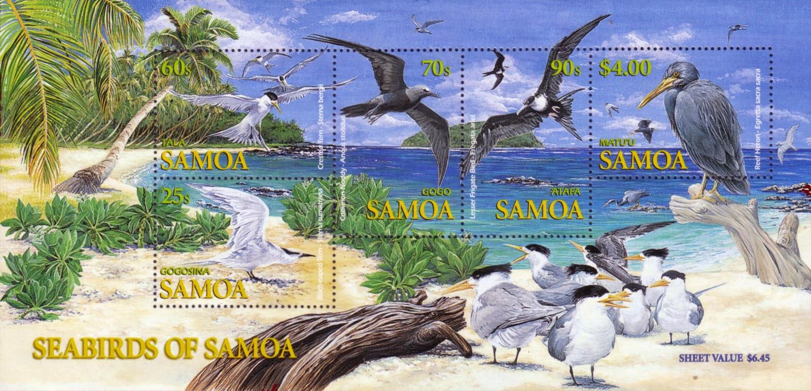 Samoa 2004 Seabirds of Samoa Miniature Sheet