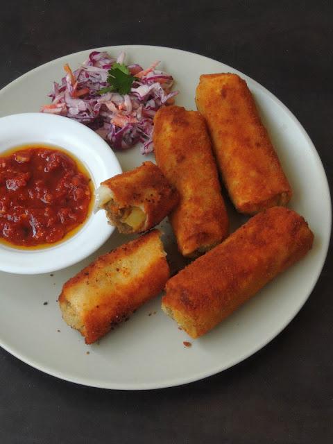 Srilankan Rolls, Minced Meat Srilankan Rolls