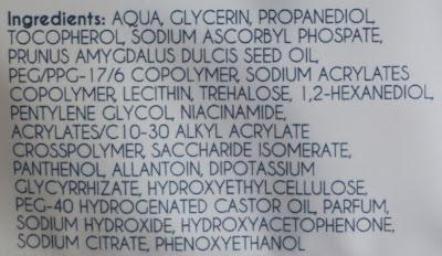 ingredienten action facial sheet mask almond oil vitamine e