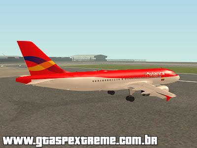 Airbus A319 Avianca para GTA San Andreas
