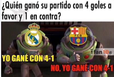 Real Madrid y Barça te golean por igual