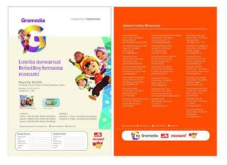 Lomba Mewarnai Boboiboy bersama Gramedia dan Monami