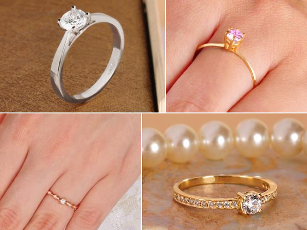 Comprando anéis de noivado online