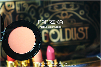PAPRIKA  REVIEW eyeshadow ombretto  goldust collection Nabla cosmetics