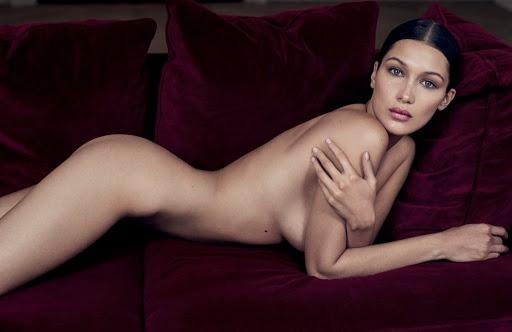Bella Hadid nude model photo shoot for GQ UK magazine