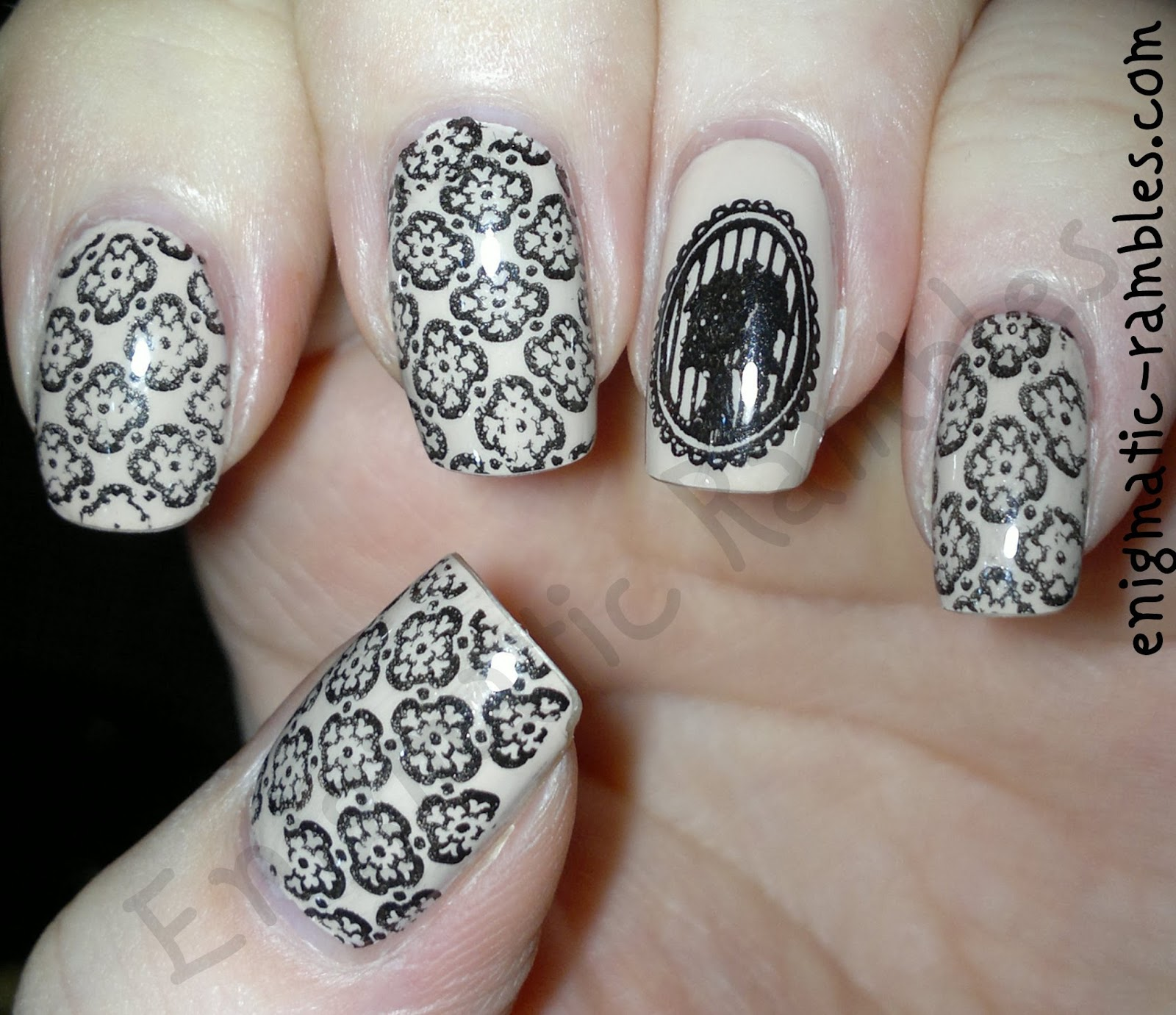 cameo-stamping-stamped-stamp-nails-nail-art-leighton-denny-opaque-elegence-bundle-monster-404-407-bm404-bm407