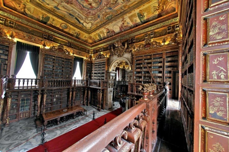 20. Biblioteca Joanina, Coimbra, Portugal - 31 Incredible Libraries and Bookstores Around the World