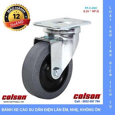 Bánh xe kháng tĩnh điện Colson Mỹ càng xoay phi 90 | 2-3646-445C www.banhxedayhang.net