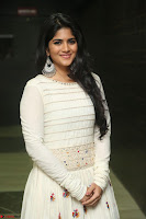 Megha Akash in beautiful White Anarkali Dress at Pre release function of Movie LIE ~ Celebrities Galleries 051.JPG