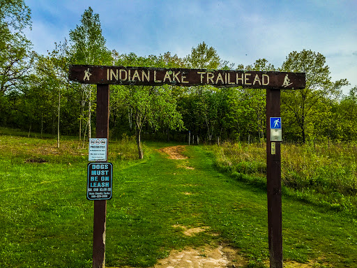The Ice Age Trail at Indian Lake County Park in Dane WI
