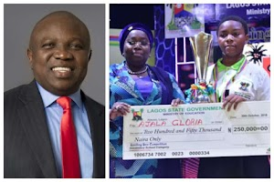14-year-old Daughter Of A Barber Emerges One-Day Governor In Lagos... Ambode Make Promises!