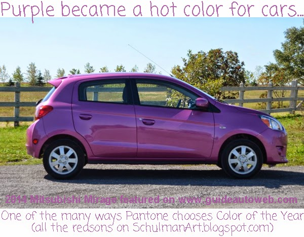 radiant orchid | purple cars | 2014 color trends | color of the year