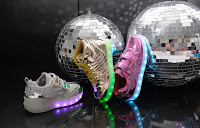 "Sugar Kids ""ALL LIT UP"" metallic sneakers"