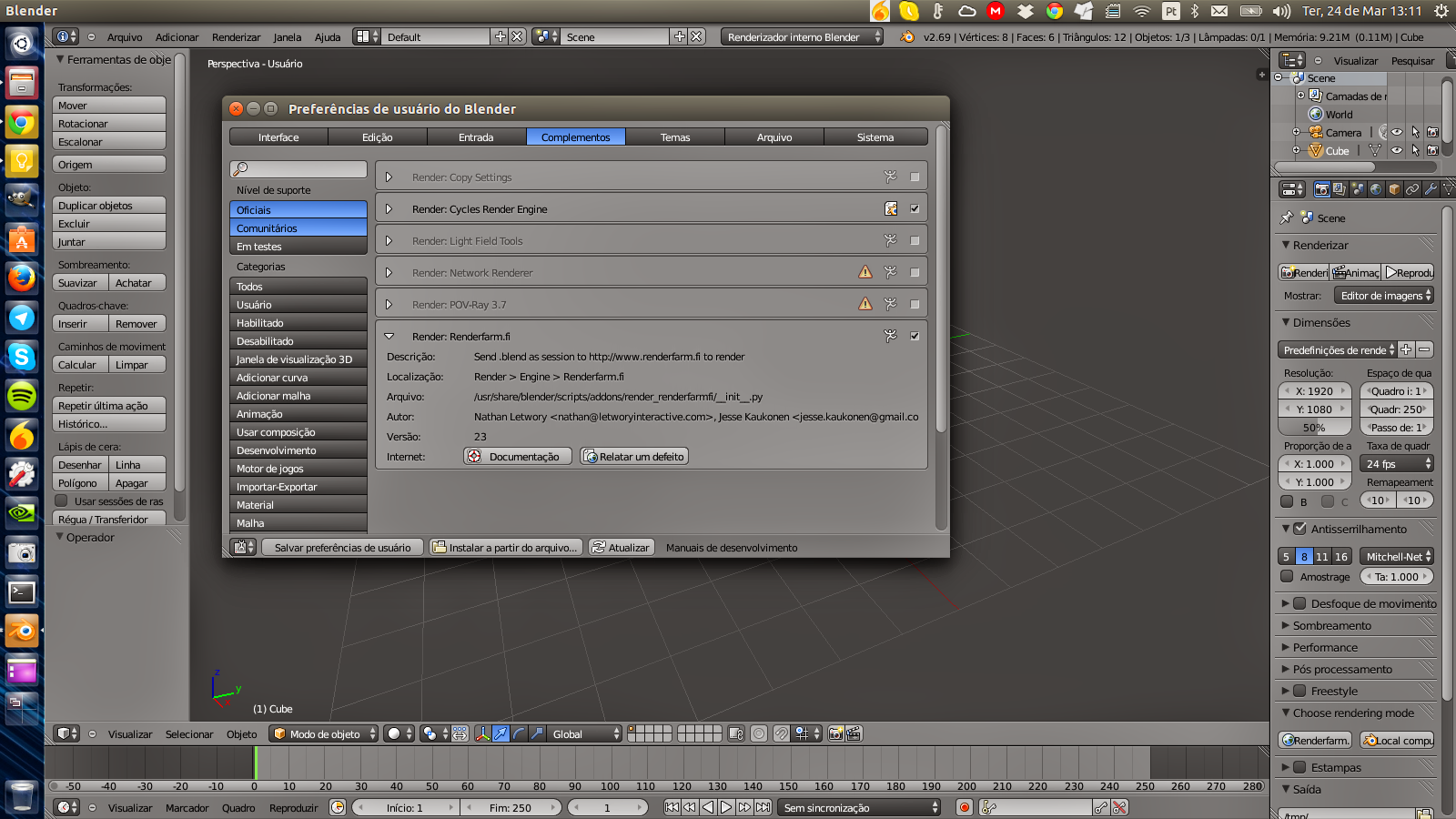 RenderMan usado no Blender